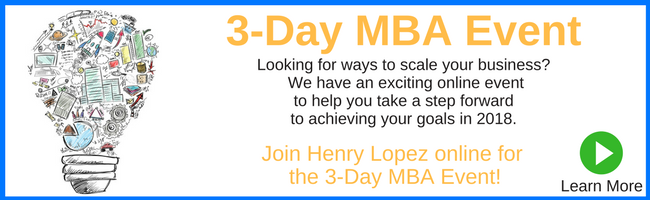 3 Day MBA program for small business