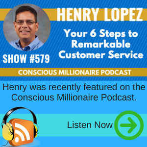 Henry was featured on the Conscious Millionaire Podcast.