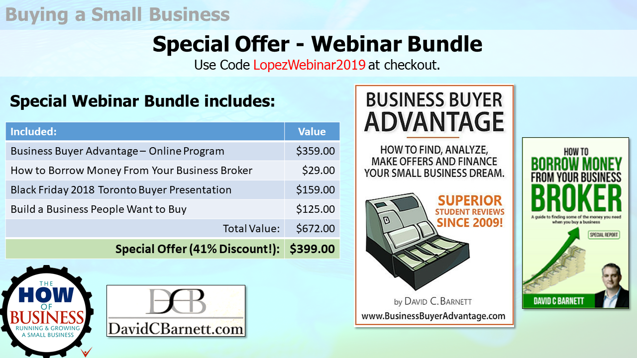 Special Offer - How to Buy a Small Business Training