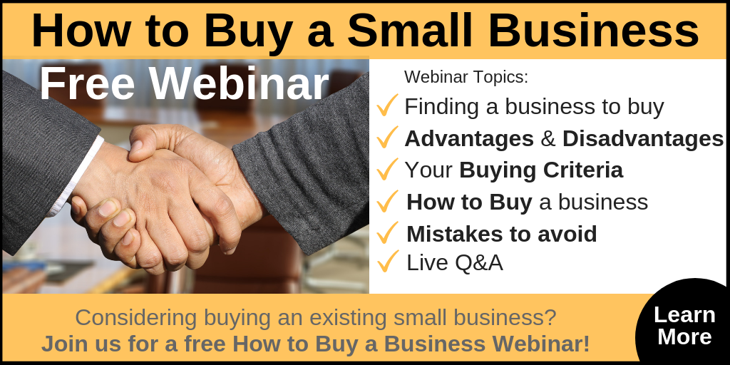 How to Buy a Small Business Webinar