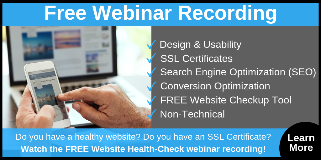 Free Website Health Check Webinar